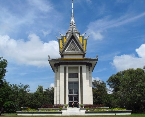 Buddhist Stupa at Choeung Ek killing fields